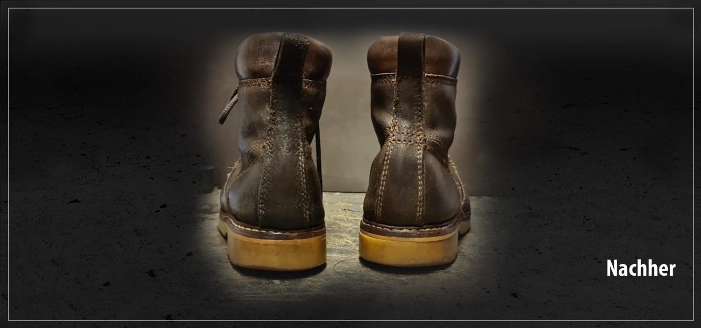 Schuhe Reparatur-nacher