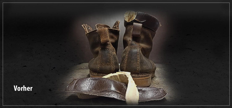 Schuhe Reparatur-vorher