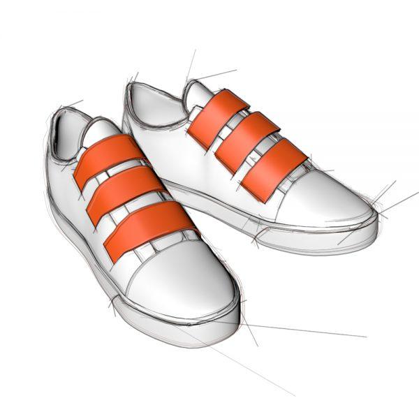 sneaker klettverschluess